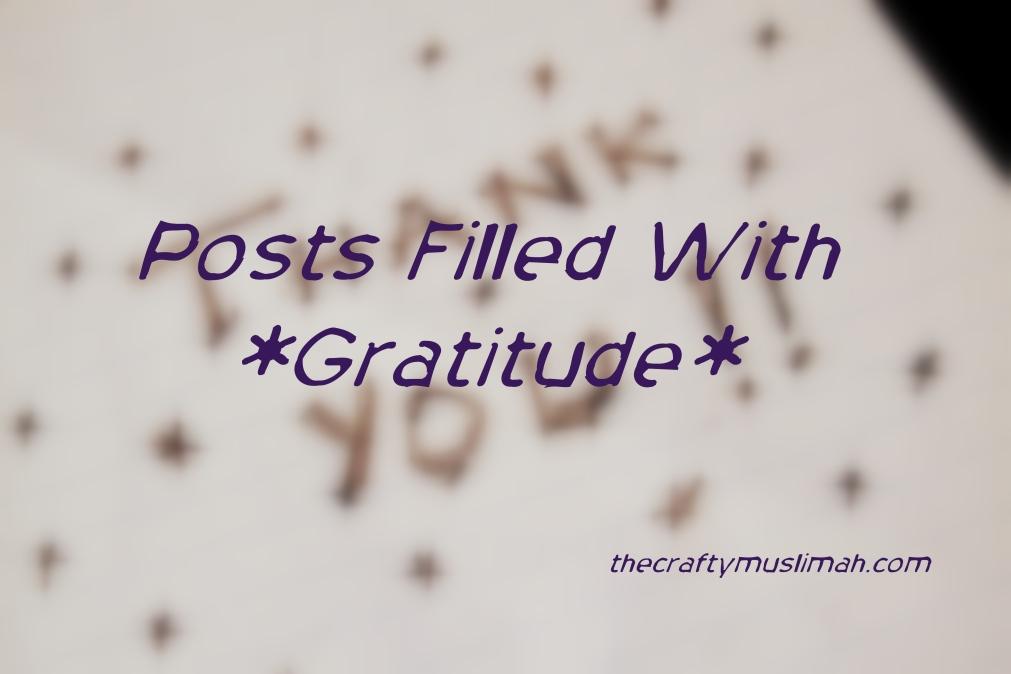 Posts of Gratitude!